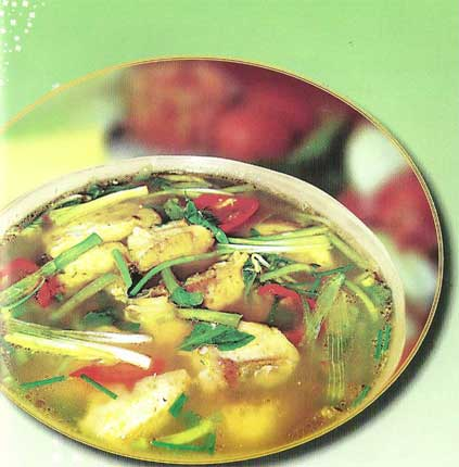 Cooking Vietnam Cuisine FISH SOUR SOUP Southern style