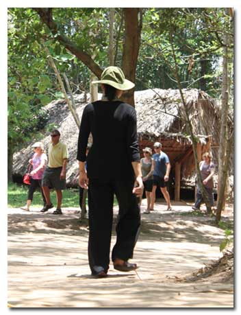 VC at Cu Chi Tunnels Tours Maps, Vietnam